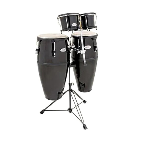 Toca 2300FBK-K Synergy Series Fiberglass Conga Set, Black