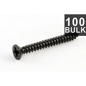 "All Parts GS-0008-B03 Tall Humbucking Pickup Ring Screws 3/4"" Black"
