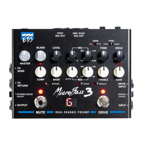 EBS MicroBass 3 Dual Channel Preamp