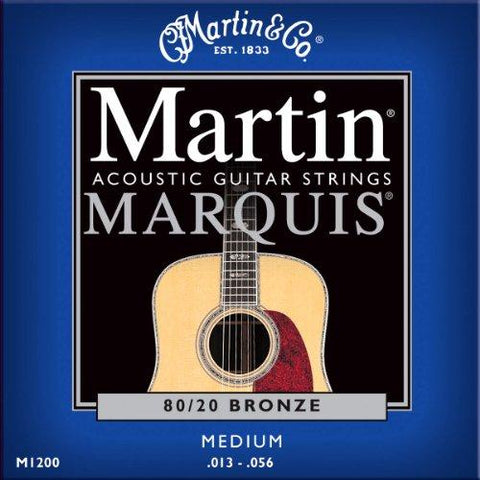 Martin 1200 Marquis 80/20 Guitar Strings, 13-56, Medium