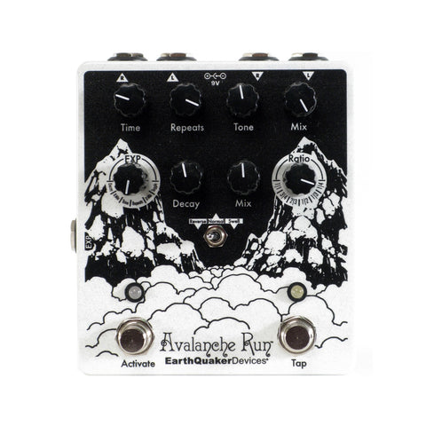 EarthQuaker Devices Avalanche Run V2 Stereo Delay Reverb, White (Gear Hero Exclusive)