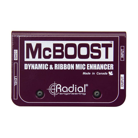 Radial McBoost 1-channel Active Mic Boost Direct Box