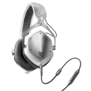 V-MODA Crossfade M-100 Over-Ear Noise-Isolating Metal Headphone (White Silver)