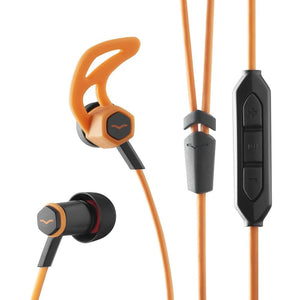 V-MODA FORZA IN-EAR HYBRID SPORT HEADPHONES WITH 3-BUTTON REMOTE & MICROPHONE - APPLE DEVICES, ORANG