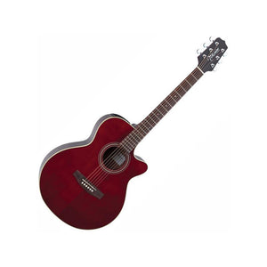 Takamine EG260C WR FXC Acoustic/ Electric Guitar, Wine Red