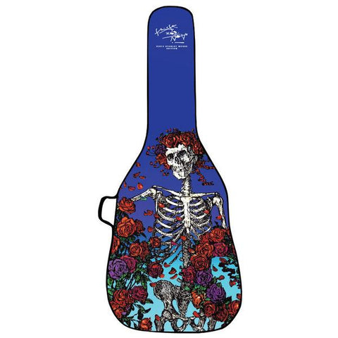 Boldface Acoustic Guitar Gig Bag with Removable Face, Skeleton and Roses