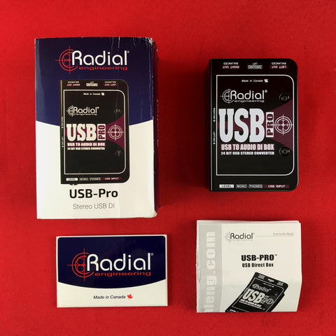 [USED] Radial USB-Pro Stereo USB Laptop DI