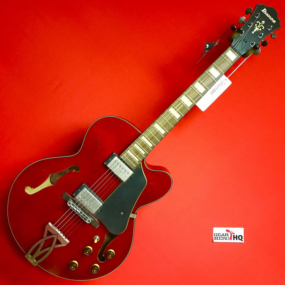 [USED] Ibanez AFV10A Artcore Vintage Series Hollowbody Electric Guitar, Transparent Cherry Red Low Gloss