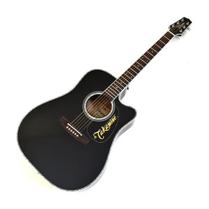 Takamine EF341DX Acoustic Electric Guitar w/Case, Black