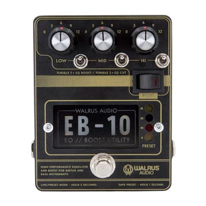 Walrus Audio EB-10 Preamp/EQ/Boost, Black