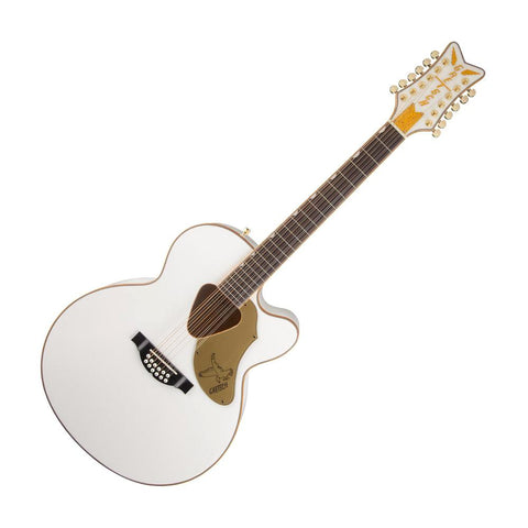 Gretsch G5022CWFE-12 Rancher Falcon 12-String Acoustic-Electric Guitar, White
