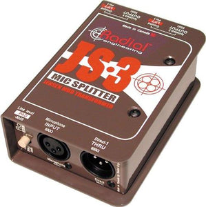 Radial JS3 Passive Microphone Splitter Direct Box