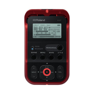 Roland R-07-RD High Resolution Handheld Field Recorder, Red