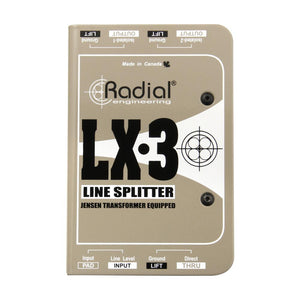 Radial LX3 Line Level Splitter