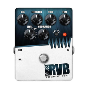 Tech 21 RVBT-V2 Boost RVB Analog Reverb Emulator With Clean Boost