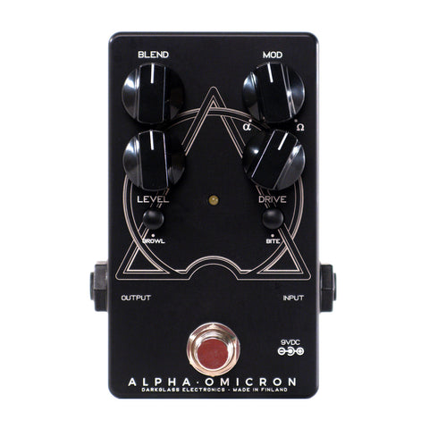 Darkglass Alpha Omicron Bass Preamp and Overdrive (Limited Edition Black/White)