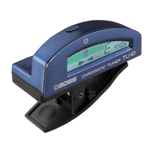 BOSS TU-10-BU Clip-On Chromatic Tuner, Blue