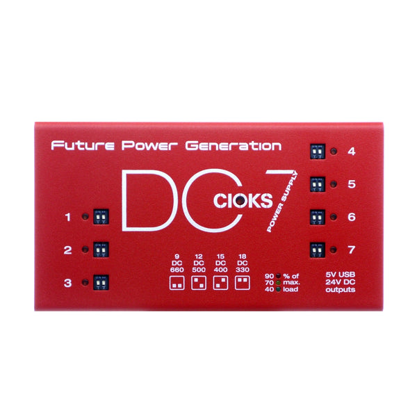 CIOKS DC7 Pedal Power Supply, Red (Gear Hero Exclusive)