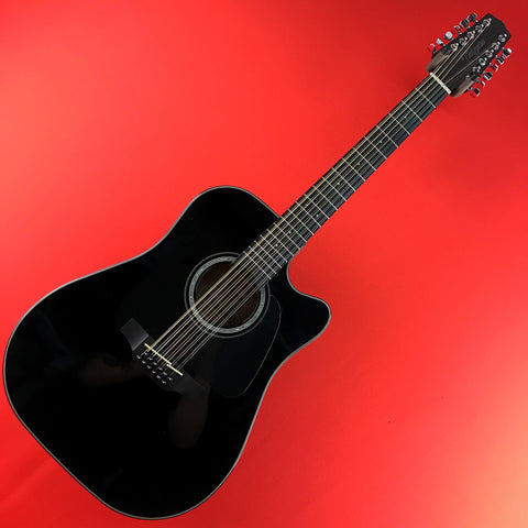 [USED] Takamine GD30CE-12 BLK Dreadnought Cutaway 12 String Acoustic Electric Guitar, Black