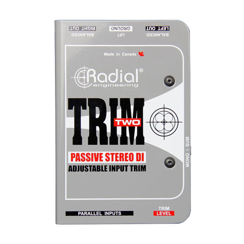 Radial Trim-Two 2-channel Passive A/V Direct Box