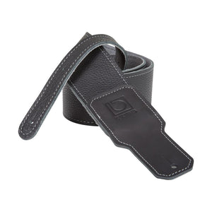 "Boss BSL-30-BLK 3"" Black Premium Leather Guitar Strap"
