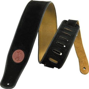 "Levy's 2.5"" Suede Guitar Strap, Black"