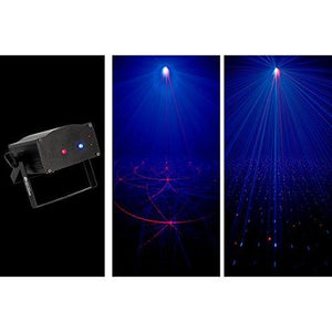 American DJ Supply Micro Royal Galaxian Micro Royal Galaxian Blue and Red Wide Coverage Micro Laser