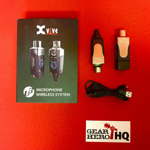 [USED] Xvive U3 2.4GHZ Wireless Microphone System, Black