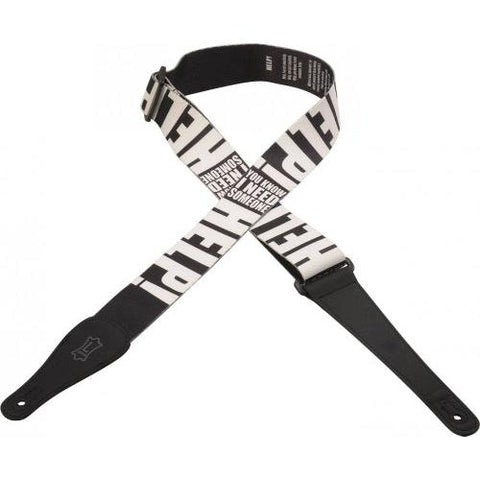 Levy's Lyric Series Polyester Guitar Strap, Help!