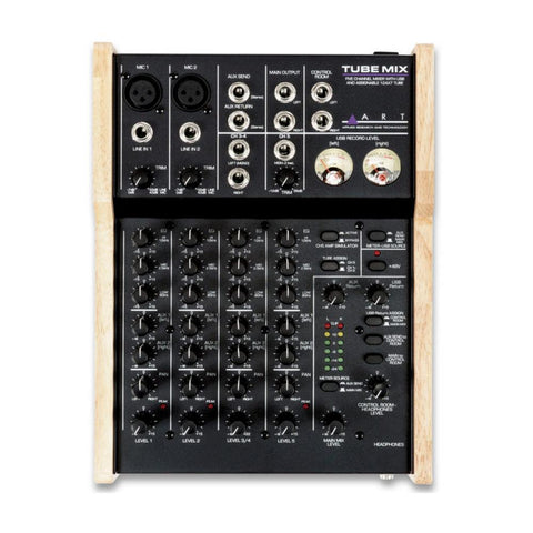ART TubeMix 5-Channel Mixer w/ USB & Assignable 12AX7 Tube