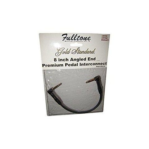 "Fulltone 8"" Angled End Premium Pedal Interconnect Cable"