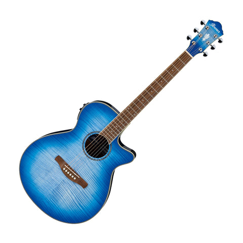 Ibanez AEG19IIOBB Acoustic Electric Guitar, Ocean Blue Burst High Gloss