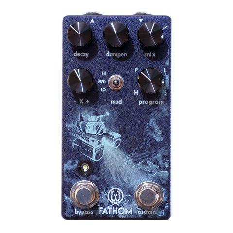 Walrus Audio Fathom Multi-Function Reverb, Purple (Gear Hero Exclusive)