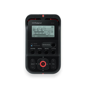 Roland R-07-BK High-Resolution Audio Recorder, Black