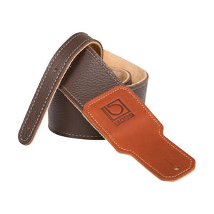 "Boss BSL-25-BRN 2.5"" Brown Premium Leather Guitar Strap"