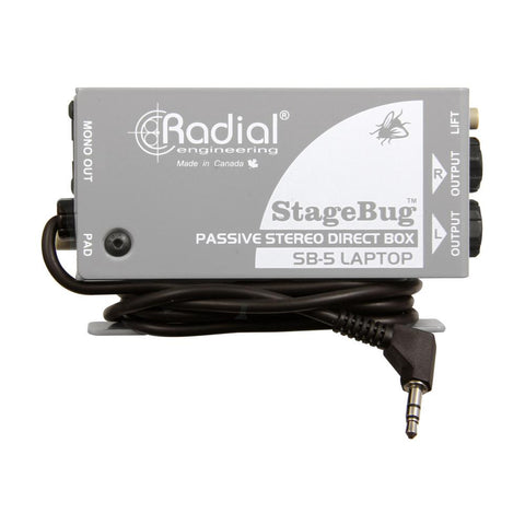 Radial SB-5 StageBug 1-Channel Passive Laptop Direct Box