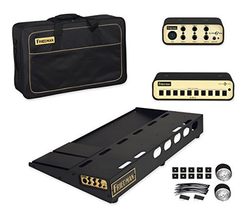 "Friedman Tour Pro 1530 Platinum Pack 15"" x 30"" Pedal Board with Riser, Professional Carrying Bag, Power Grid 10 & Bufffer Bay 6"