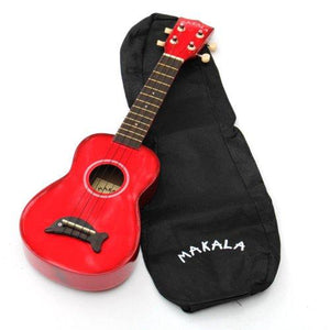 Kala MK-SD Makala Dolphin Series Soprano Ukulele, Candy Apple Red
