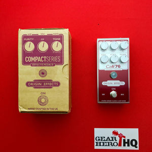 [USED]Origin Effects Cali-76 Compact Deluxe, Red Invert (Pedal Genie  Exclusive)