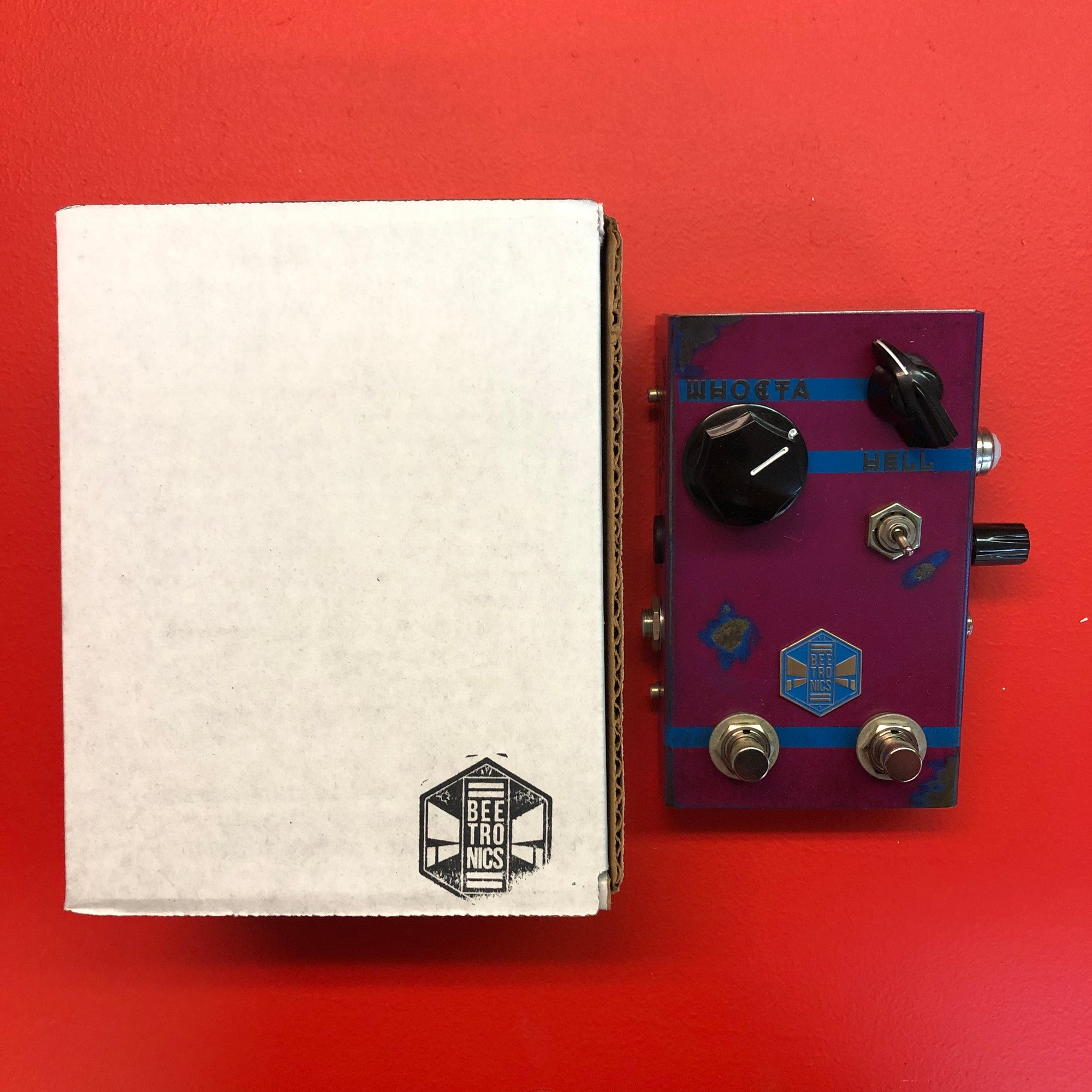 [USED] Beetronics WhoctaHell Low Octave Fuzz, Purple (Pedal Genie Exclusive)