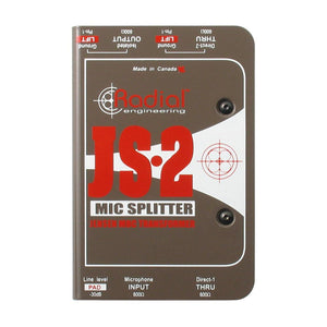 Radial JS2 Passive Microphone Splitter Direct Box