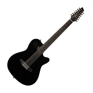 Godin A12 Acoustic Electric 12-String w/Gig Bag, Black High Gloss