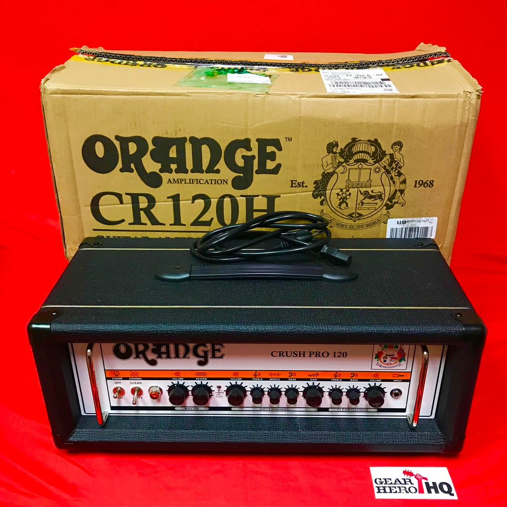 used orange crush pro cr120h 120w guitar amp head black guitar pedals for any genre. Black Bedroom Furniture Sets. Home Design Ideas