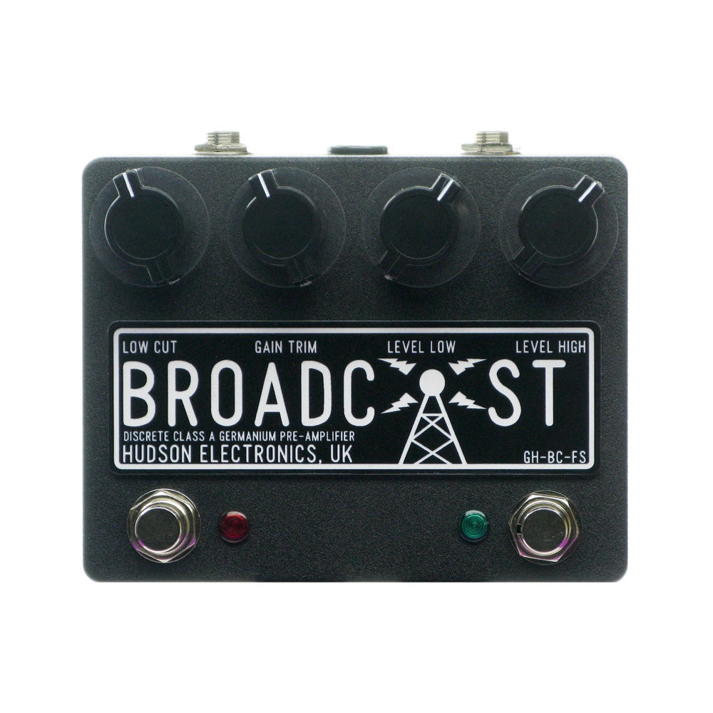 Hudson Broadcast Dual Switch Preamp Overdrive, Black (Gear Hero Exclusive)