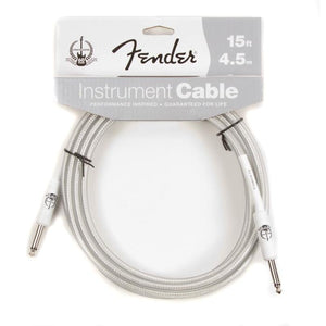Fender Instrument Cable 60th Anniversary 15ft, Silver/White