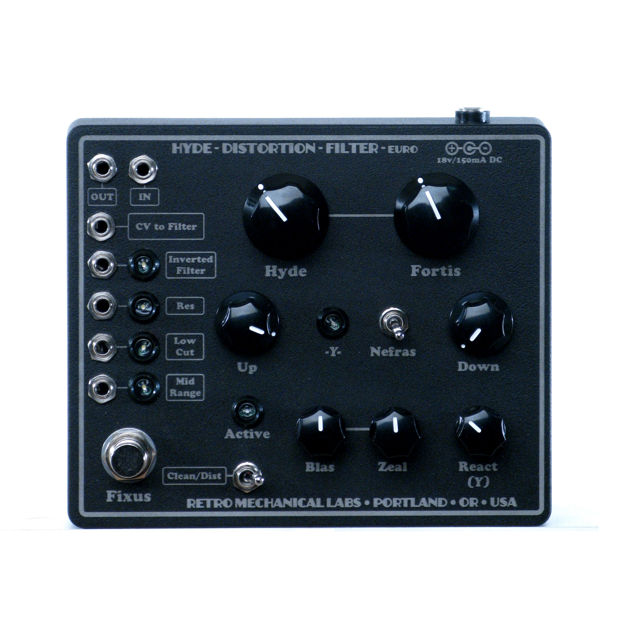 Retro Mechanical Labs Hyde Distortion Filter Euro Pedal