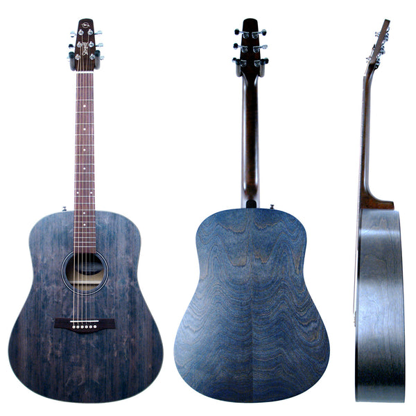Seagull S6 Original Slim Acoustic Guitar, Faded Blue with Bag (Gear Hero Exclusive)