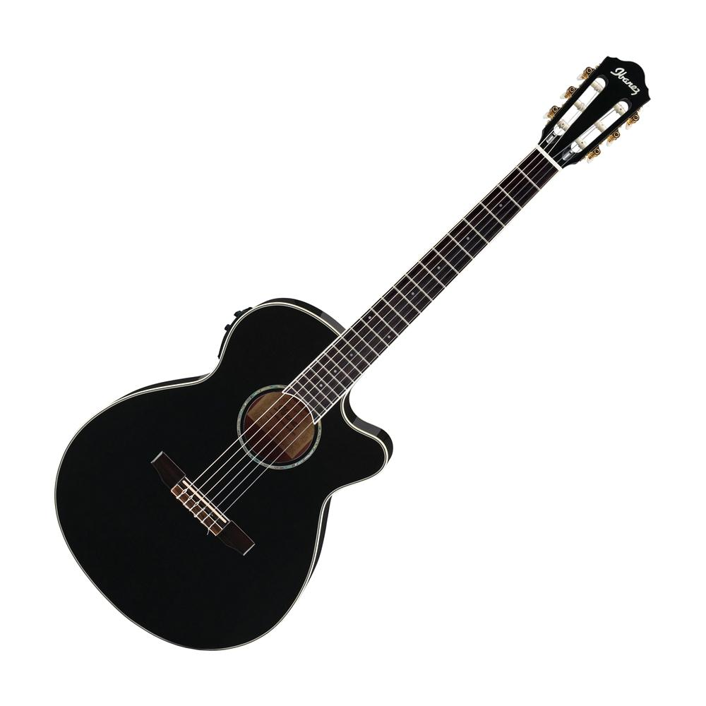 Ibanez AEG10NII-BK Nylon String Cutaway Acoustic Electric Guitar, Black