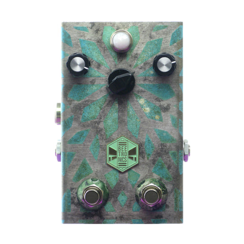 Beetronics OctaHive Dual-Footswitch High Octave Fuzz, Blue Glass (Limited Edition)