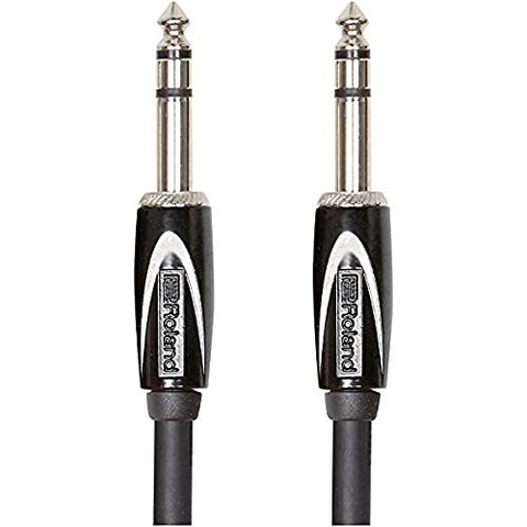 Roland RCC-3-TRTR Black Series 1/4 Inch TRS Interconnect Cable, 3 ft